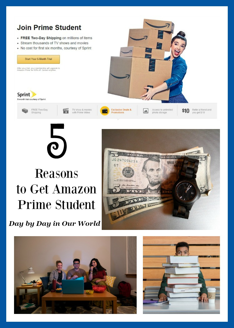 Want to help your college student save time and money? Here are 5 reasons to get Amazon Prime Student.