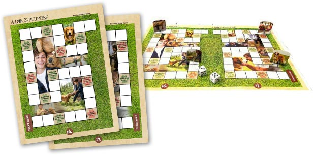 A Dogs Purpose Gameboard.