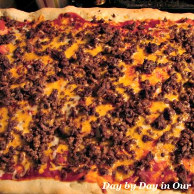 Surprise the Family with Cheeseburger Pizza for Dinner