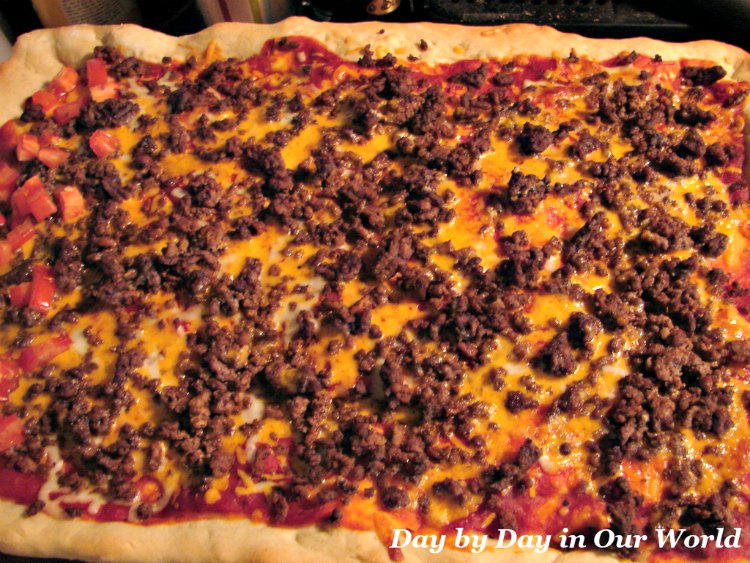 Cheeseburger Pizza is a hit with the whole family.