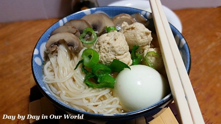 Longevity Noodles with Chicken Meatballs