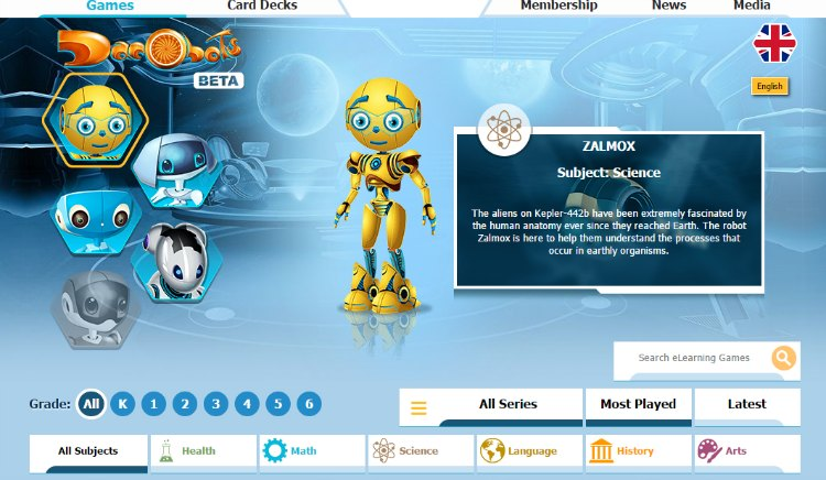 Dacobots eLearning for Kids Currently in Beta