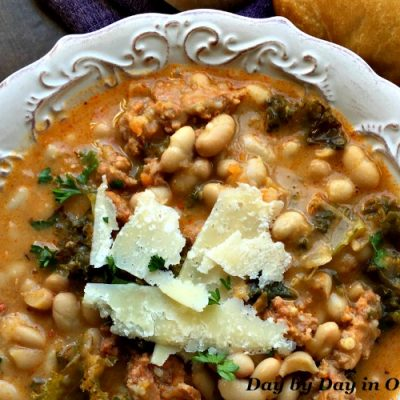 Easy White Bean and Spicy Sausage Soup