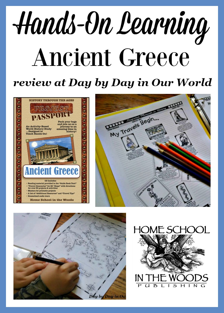 Hands-on learning makes history more fun. Review of Homeschool in the Woods Ancient Greece unit study.