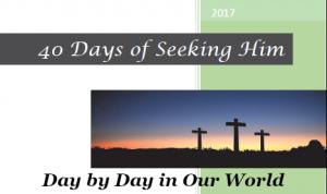 40 Days of Seeking Him Sampler Cover Image