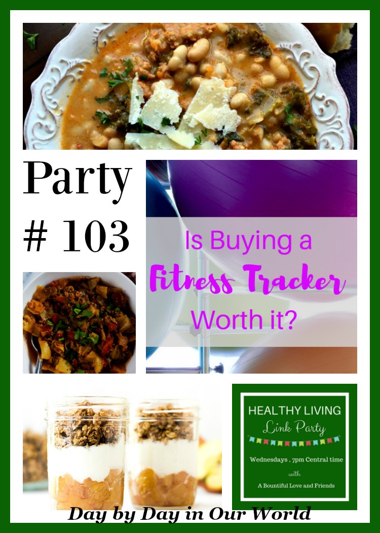 Healthy living link party #103 at Day by Day in Our World