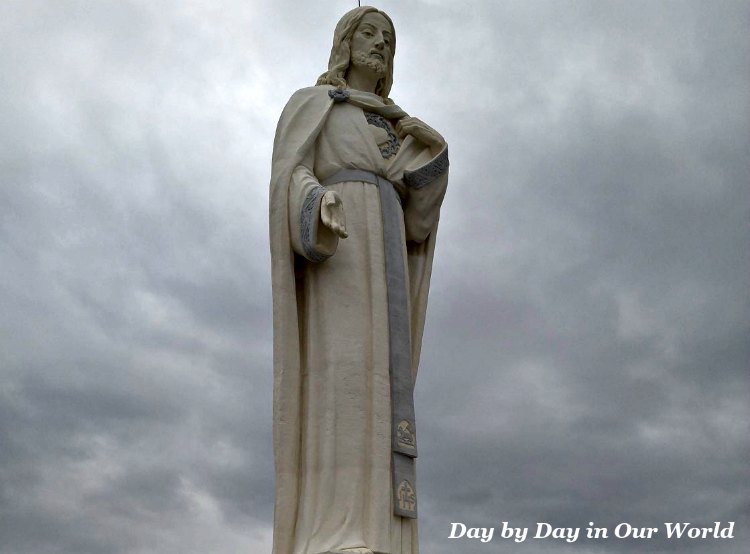 Statue of Christ at Cabrini Shrine in Golden Colorado