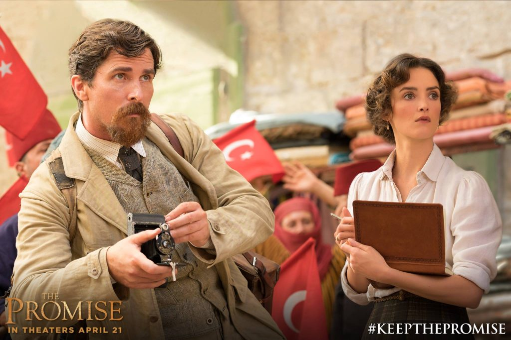 Christian Bale and Charlotte Le Bon in The Promise