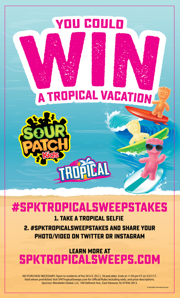 Sour Patch Kids Tropical Vacation Giveaway