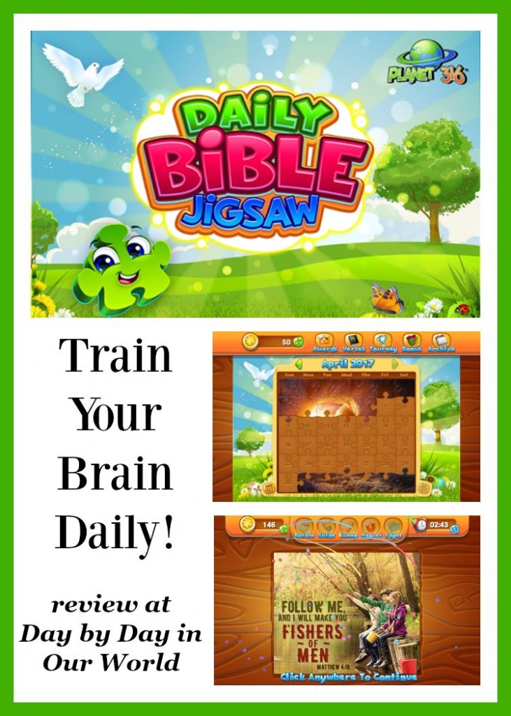 Train Your Brain on a daily basis with Jigsaw Puzzles. Planet 316 offers the wonderful Daily Bible Jigsaw for portable devices or through Facebook.