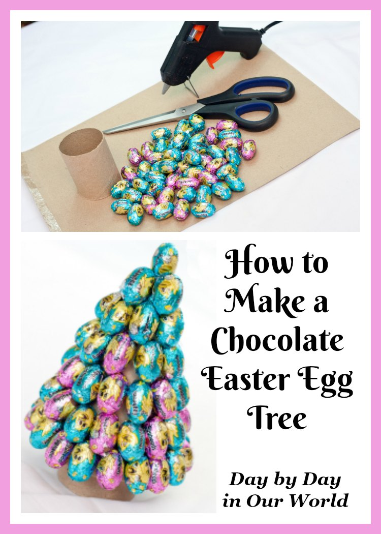 With a few simple supplies, you can make an Easter Egg Tree from chocolates.