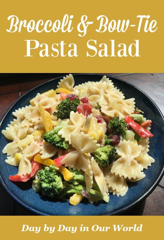 Broccoli and Bow-Tie Pasta Salad