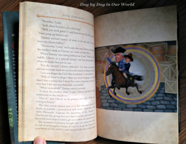 The Adventures of Rush Revere by Rush Limbaugh are in high quality hardback format with sporadic illustrations that support the story.
