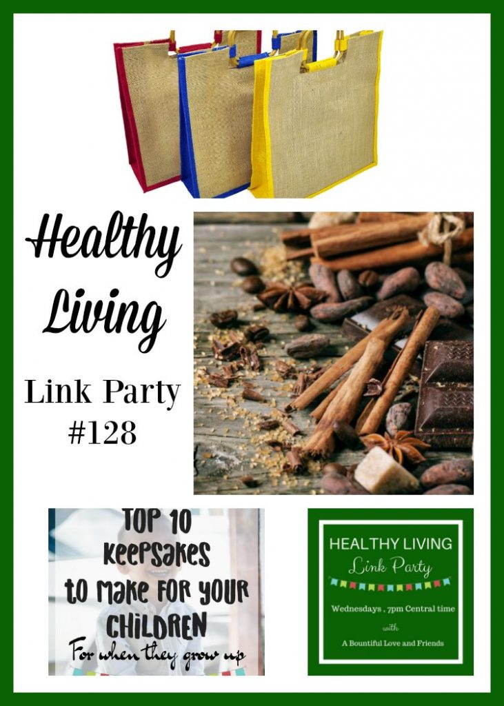 Healthy Living Link Party #128 co-hosted at Day by Day in Our World.