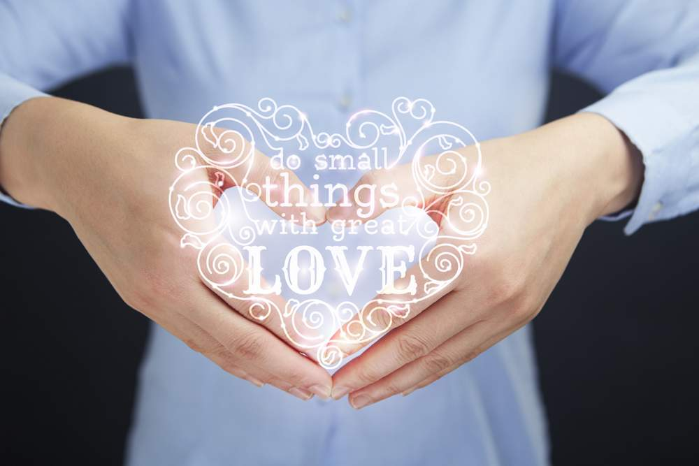 Doing small things with love can help to improve our world.