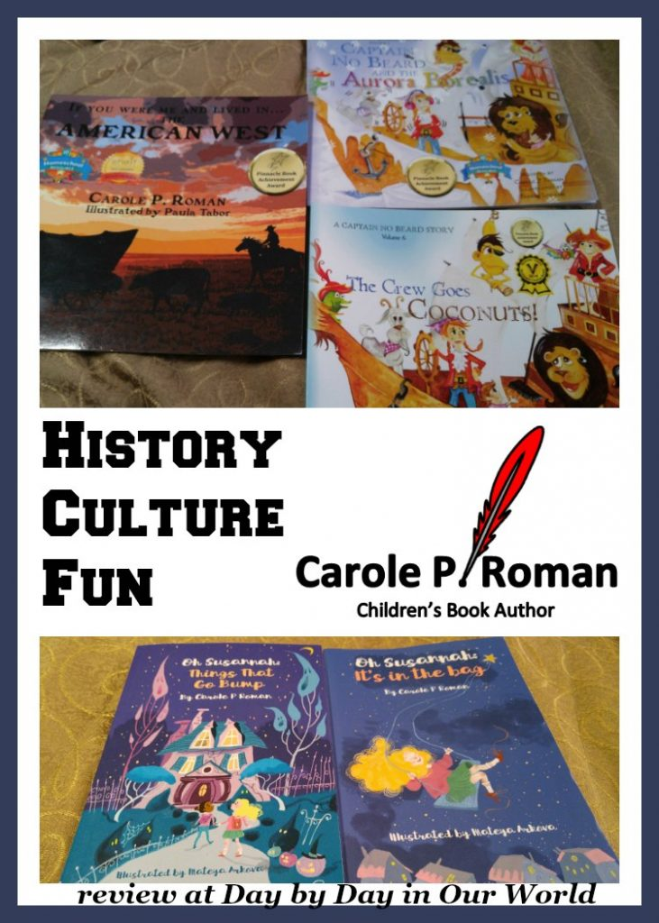 Children's books that cover history, cultural studies, and fun from Carole P. Roman