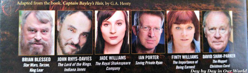 Wonderful cross section of actors provide the voices for Captain Bayley's Heir by Heirloom Audio Productions