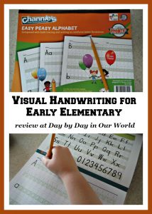 Visual Handwriting for Early Elementary may help your struggling writer to improve dramatically.