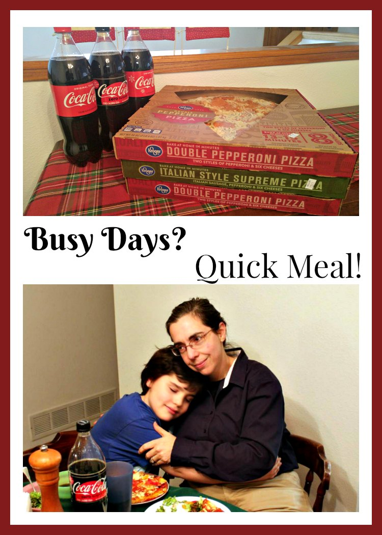 Is life getting busy for you? Need an easy, quick meal option for the family? See how the #KrogerPizzaDeal can help you get dinner on the table quickly. #AD