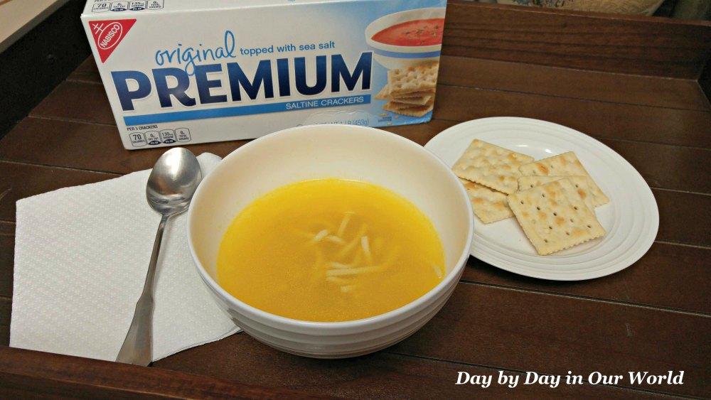 Campbells Chicken Soup and Nabisco Original Premium Saltine Crackers