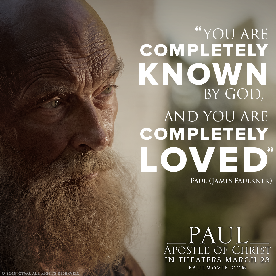Theme of God's Love is found in Paul, Apostle of Christ