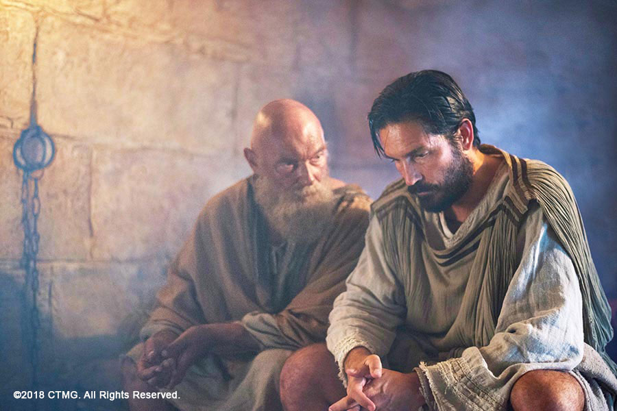 Luke Visits Paul in the movie Paul, Apostle of Christ