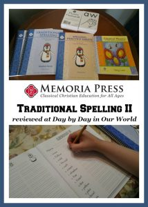 Review of Traditional Spelling II from Memoria Press
