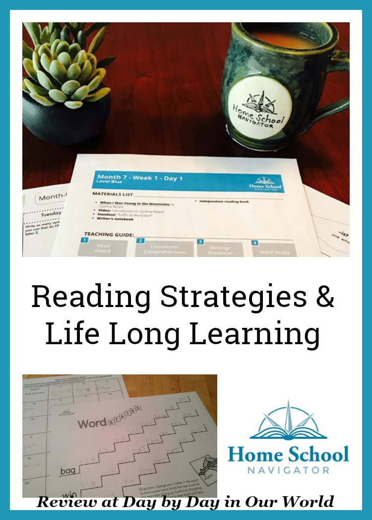 Language Arts for elementary grades is made easier with the year-long program from Home School Navigator. You can use it as is or pick and choose which elements (read aloud books, videos explaining concepts, worksheets, free reading and writing) to use with your child.  #hsreviews #readingsuccess #readingstrategies  #makinglifelonglearners