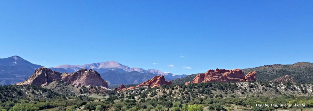 View of Garden of the Gods from Visitor Center