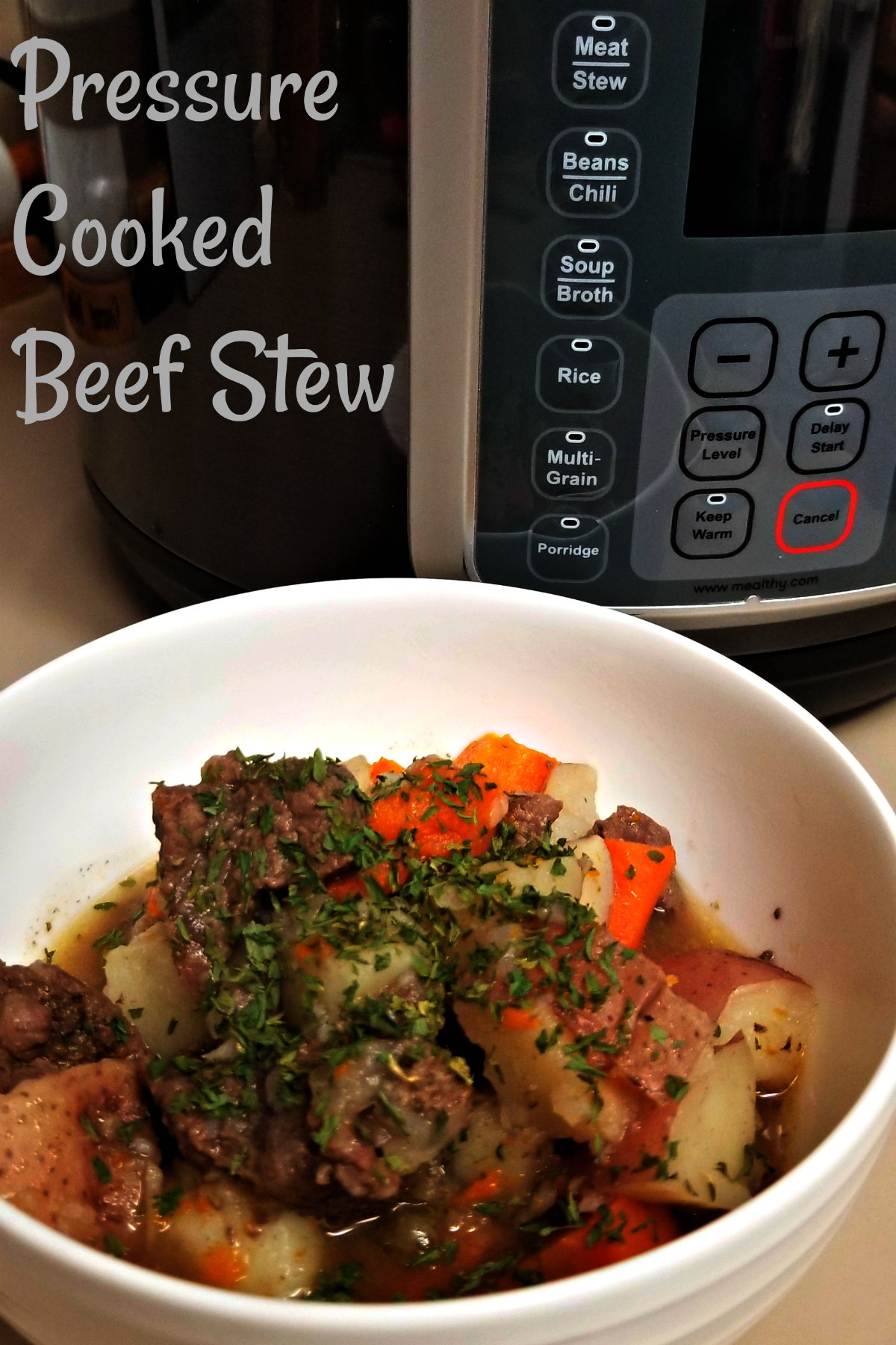 Pressure Cooked Beef Stew