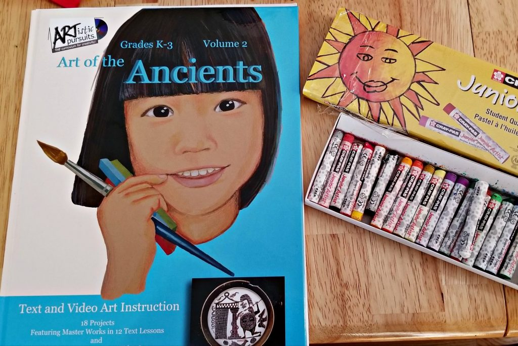 ARTistic Pursuits: Art of the Ancients Cover with Pastels