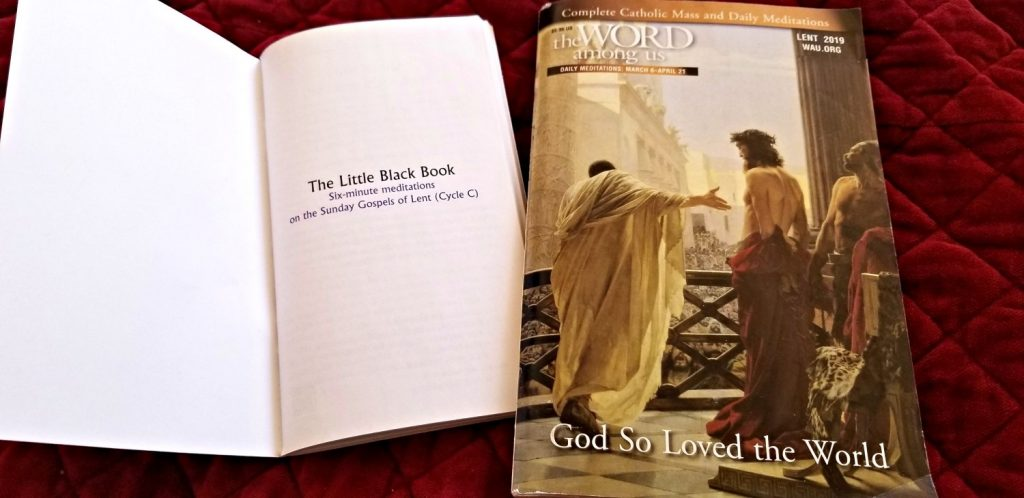 The Little Black Book And World Among Us Lent 2019