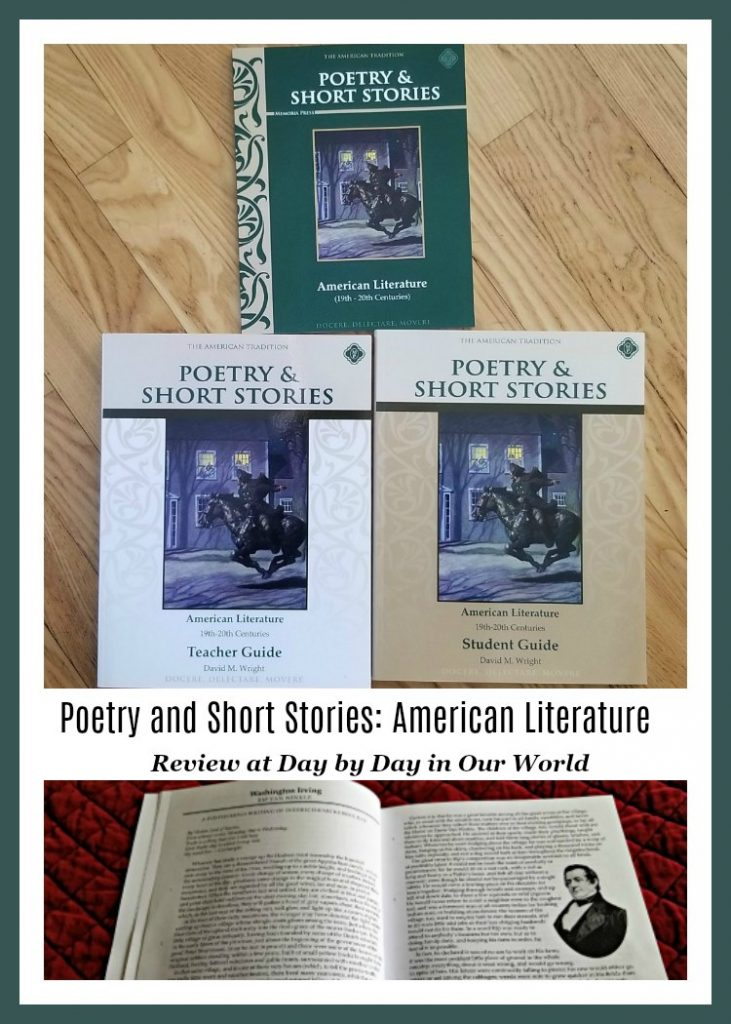Review of Poetry and Short Stories American Literature Set from Memoria Press