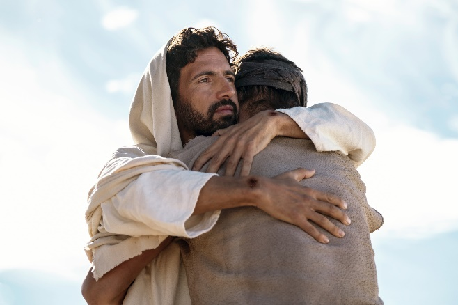 Embraced by Christ in Jesus: His Life on History Channel