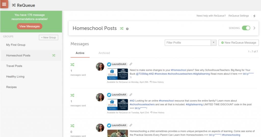 ReQueue on CoSchedule For Homeschool Posts