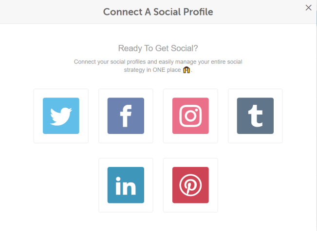 Social Profile Options with CoSchedule