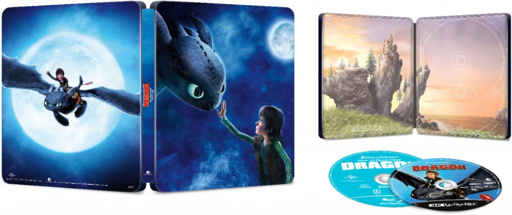 How to Train Your Dragon: The Hidden World 4K Blu-Ray Collectible Steelbook Opened