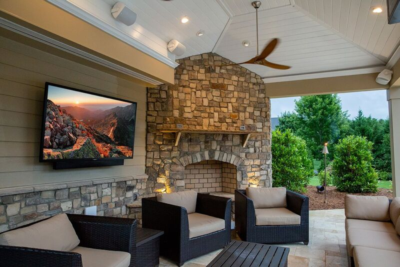 CoveredPatio Outdoor Living Space with SunBrite TV