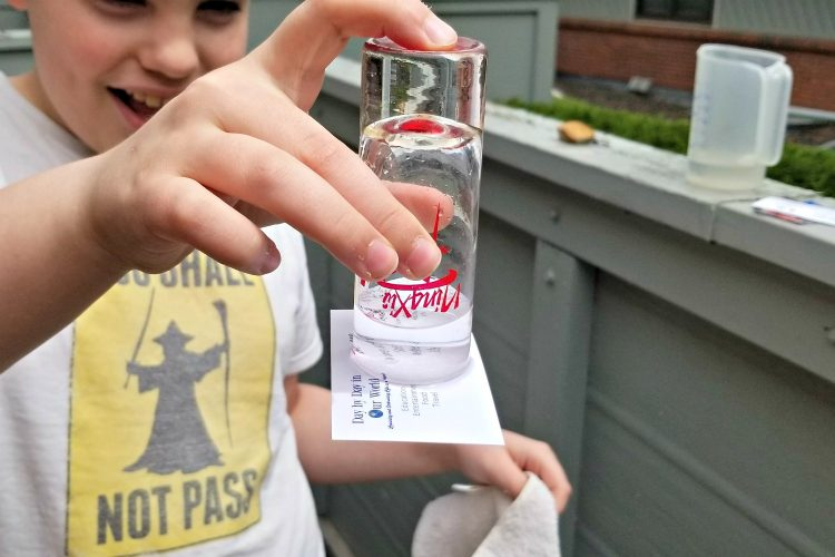 Magic Water Card Trick with Shotglass and Business Card