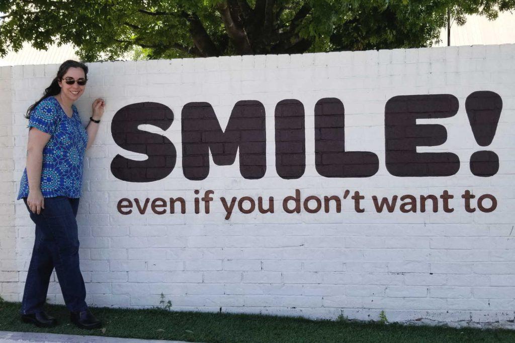 Smile Mural Austin Texas