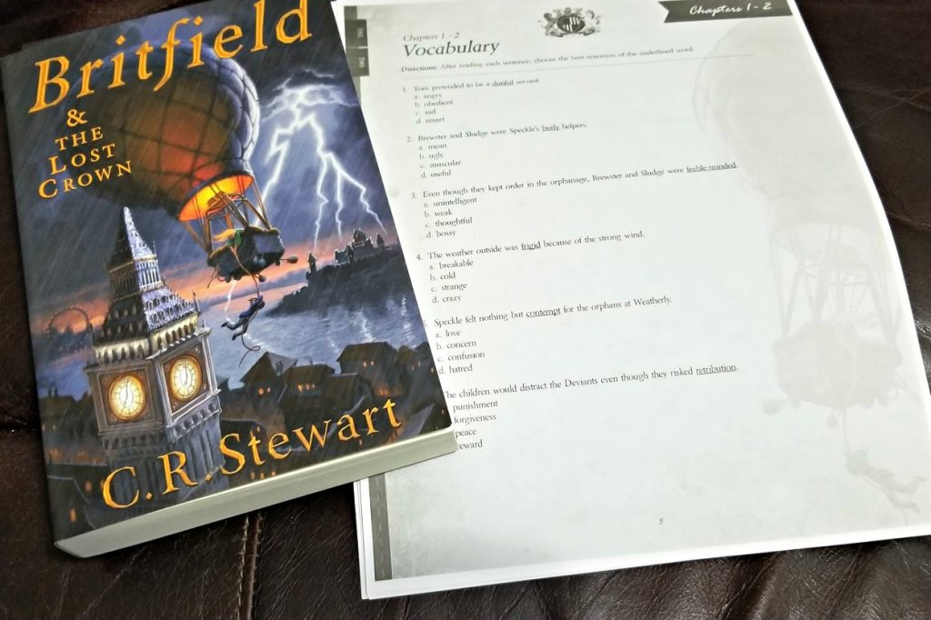 Creating a Unit Study Approach with Britfield & the Lost Crown study guide