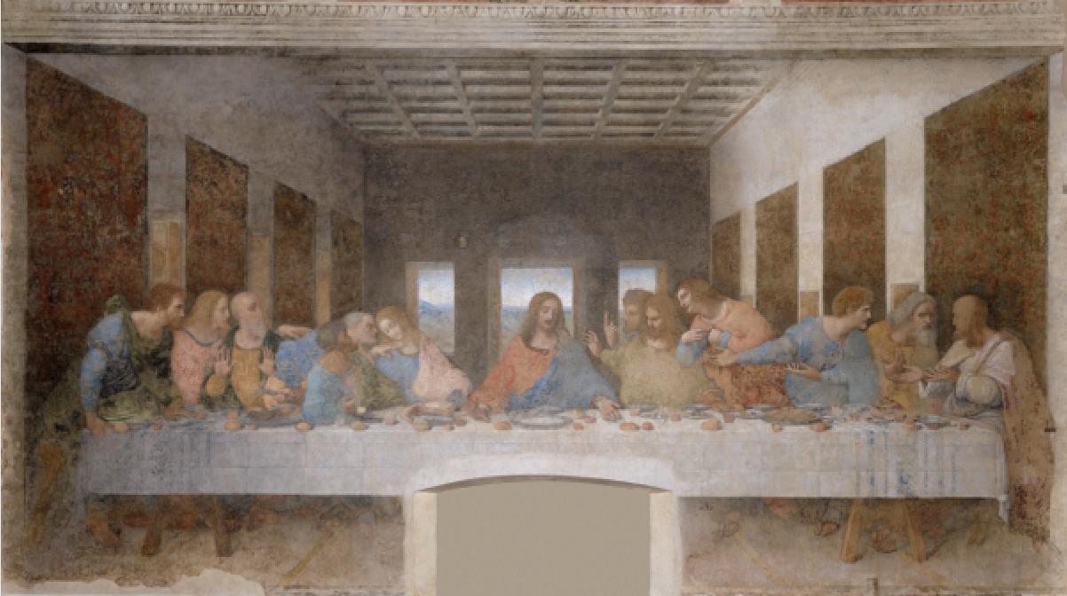 The Last Supper Original with door below Jesus