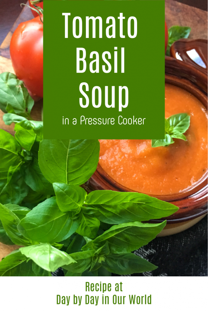 Tomato Basil Soup Electric Pressure Cooker